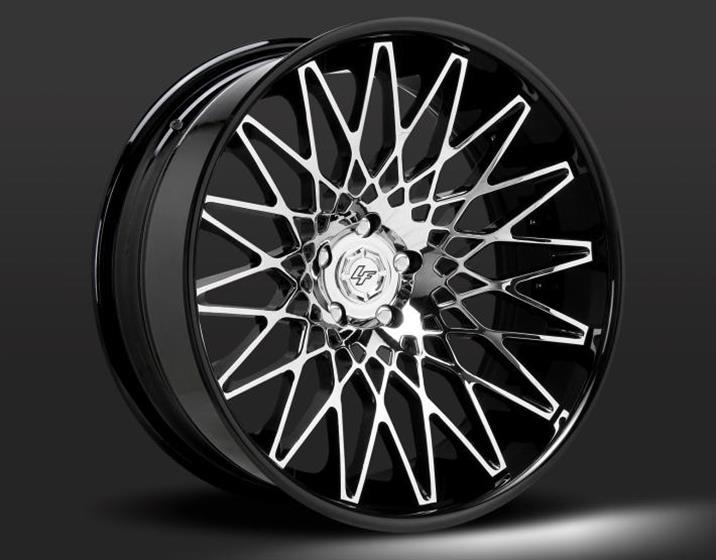 Lamborghini with Black and Chrome CS-Monza Wheels