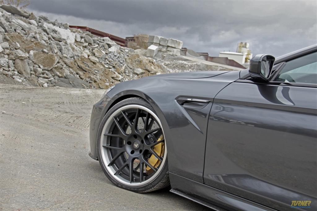 Turner Project F13 M6  -  Vorsteiner carbon fiber aero side blades, H&R sport spring set: