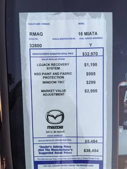 2016 Mazda MX-5 Miata Club Edition - Ceramic