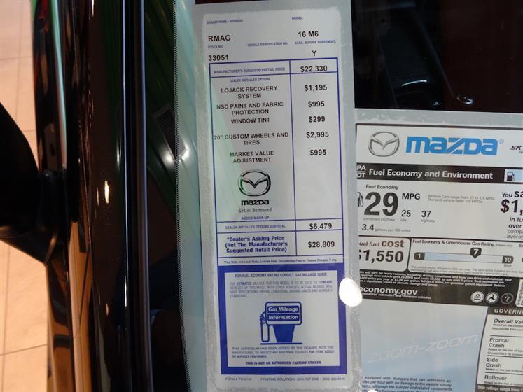 2016 Mazda Mazda6 Sport with Zoom Zoom Package - Black