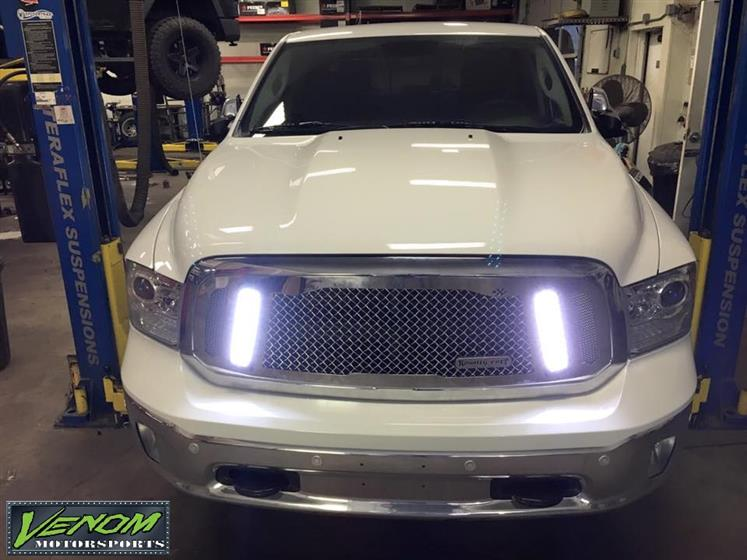 RAM with Royalty Core grille and Vision X lights