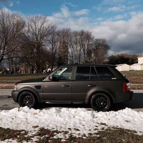 Matte Black Range Rover Sport