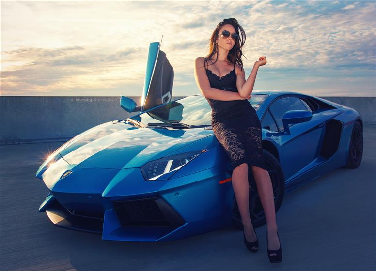 2012 Azure Blue Lamborghini Aventador