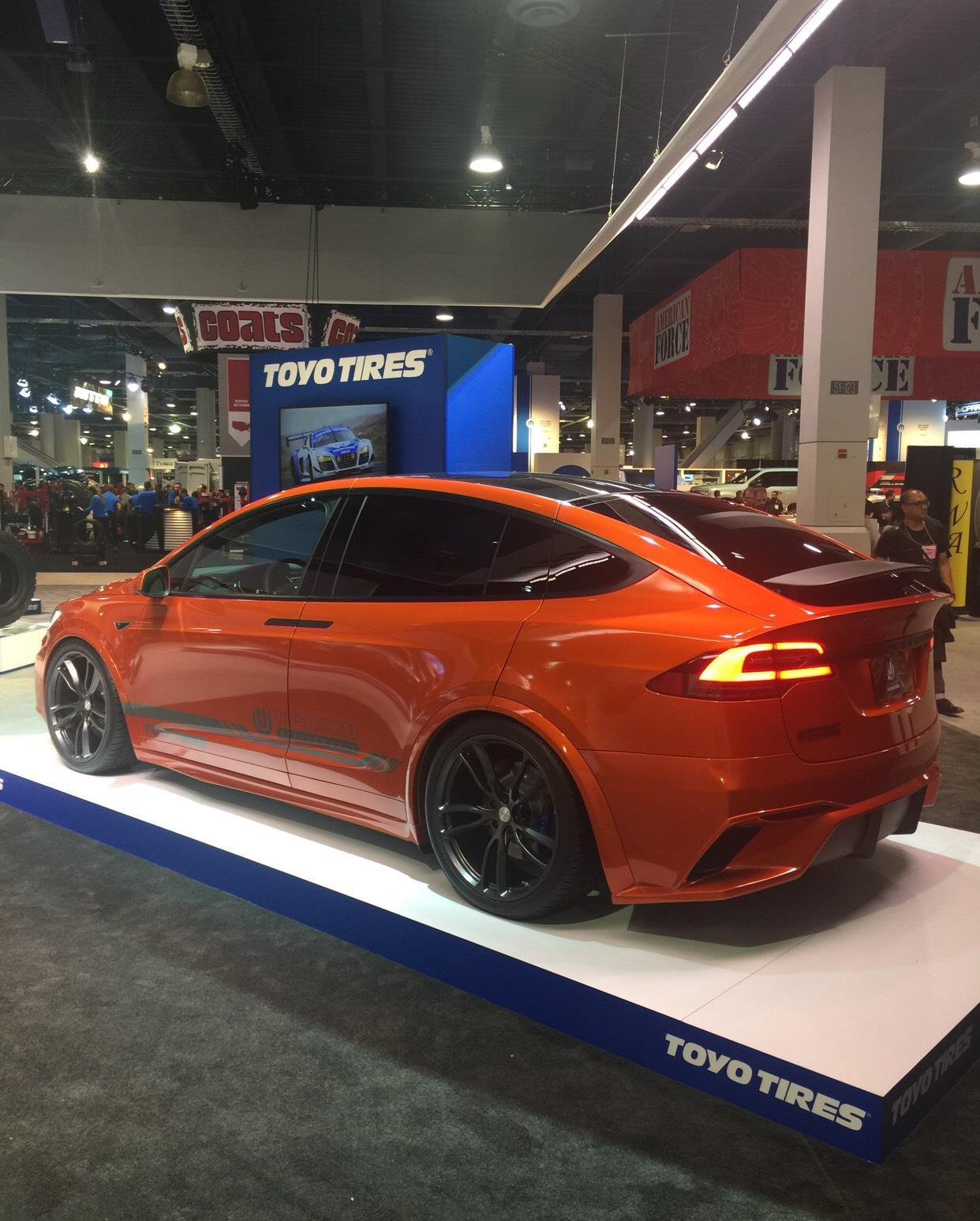 #tesla #modelx #unpluggedperformance #sema2016,Tesla