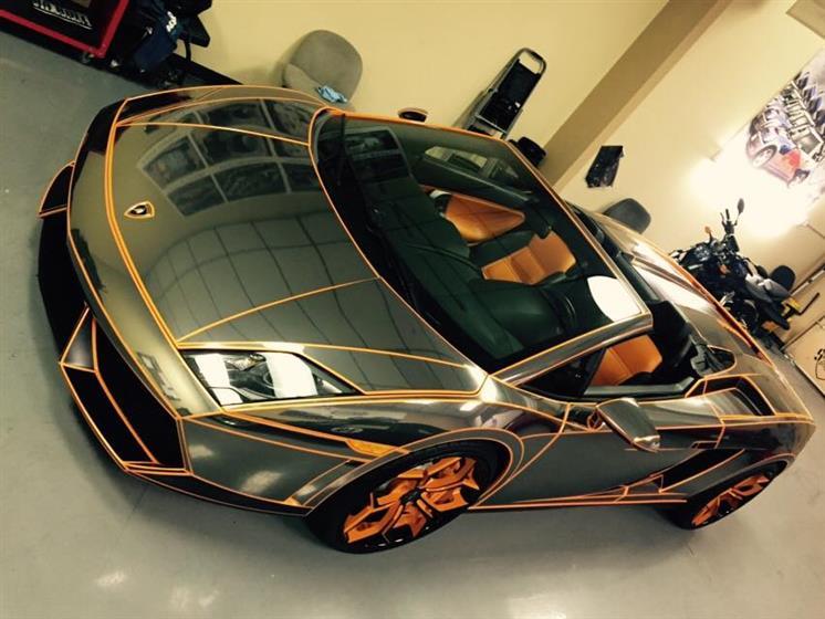 Black Chrome Lamborghini