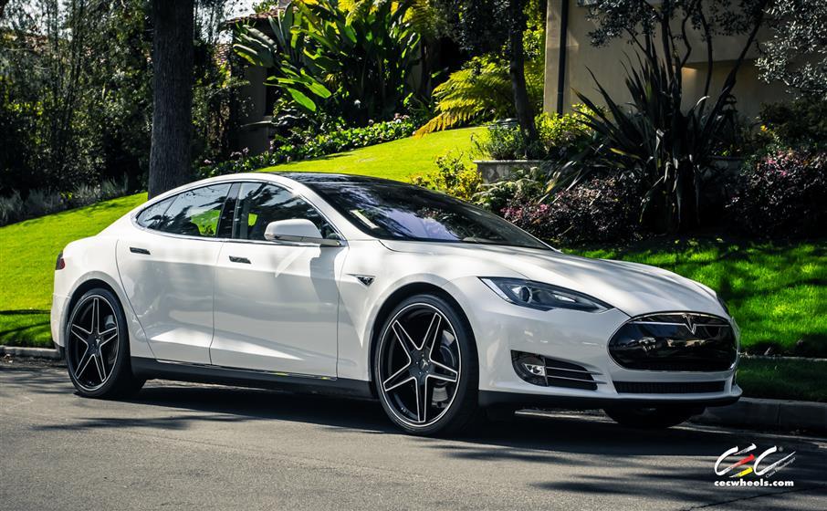 Tesla Model S with Custom Wheels