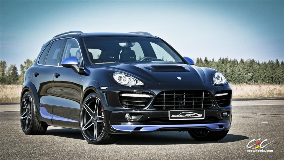 speedART Porsche Cayenne Turbo with Custom Wheels