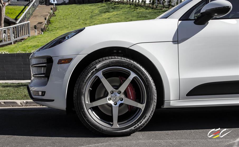 Porsche Mecan Turbo with Custom Wheels