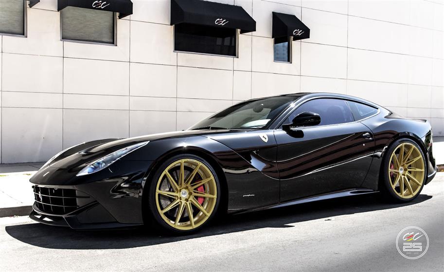 Ferrari F12 with Custom Wheels