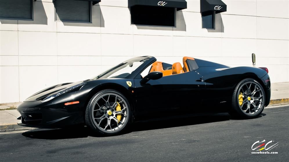 Ferrari 458 Spider with Custom Wheels