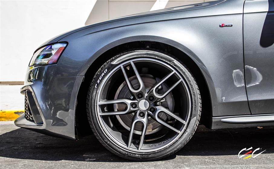 Caractere Audi A4 with Custom Wheels