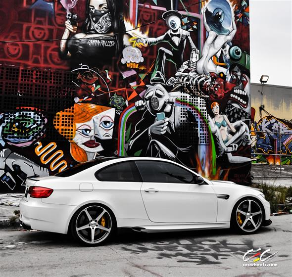BMW M3 with Custom Wheels