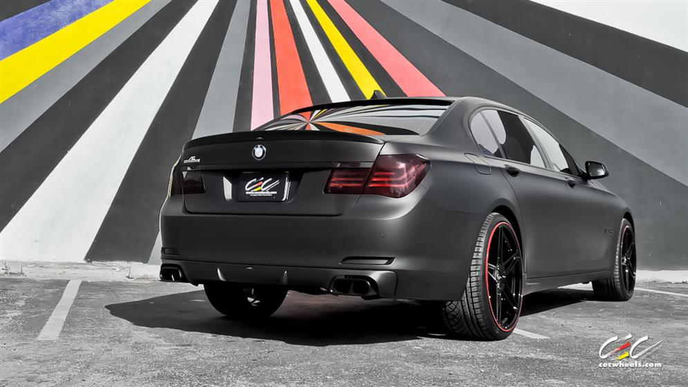 BMW 7-Series with Custom Wheels