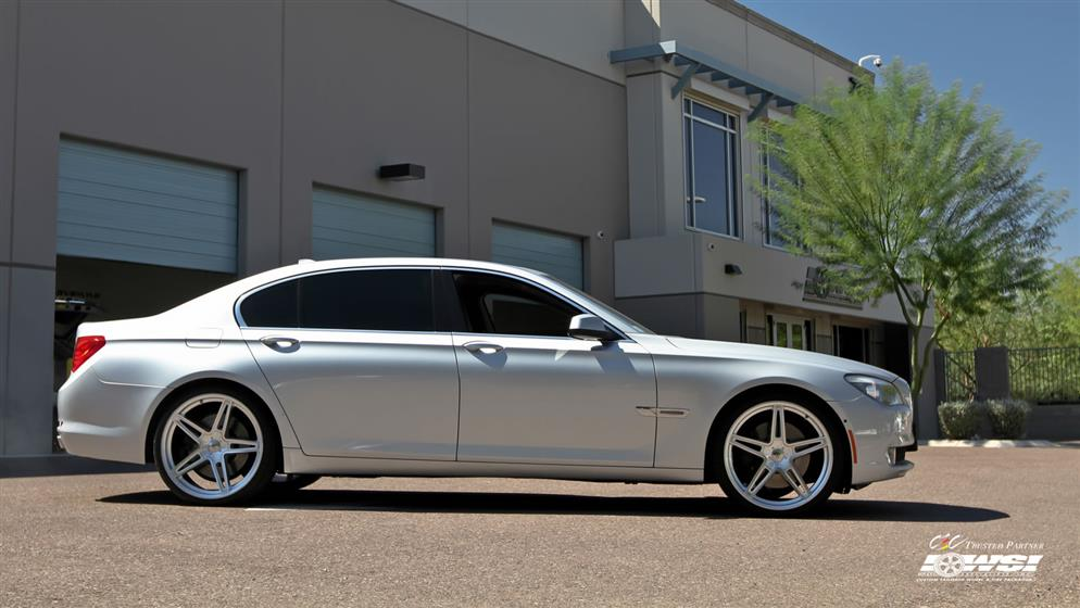 BMW 7-Series with Custom Wheels