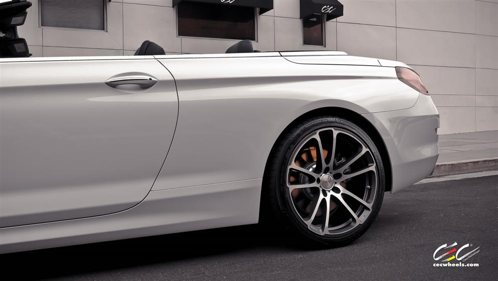 BMW 6-Series Convertible with Custom Wheels