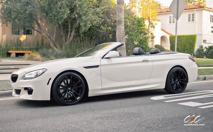 BMW 650i Convertible with Custom Wheels