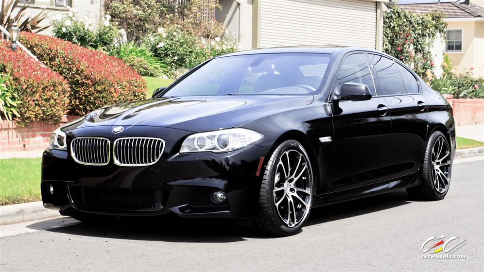 BMW 5-Series with Custom Wheels