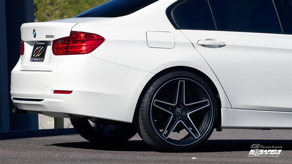 BMW 328i with Custom Wheels