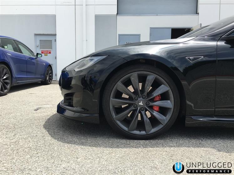David's Solid Black Tesla Model S P85D Ludicrous