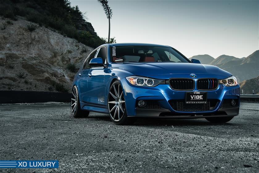 Blue BMW F30,BMW