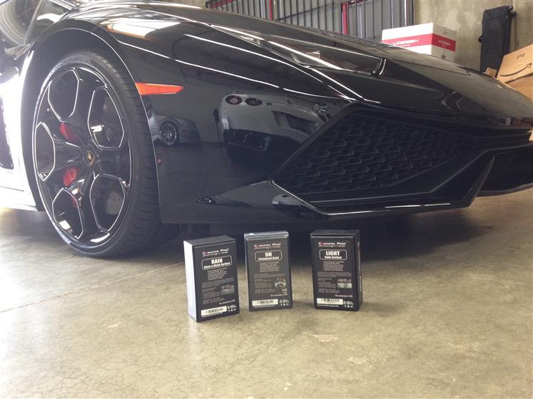 Ceramic Coated Black Lamborghini Huracan
