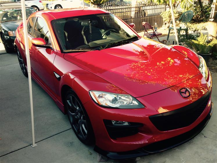 Paint-Corrected Red Mazda RX-8