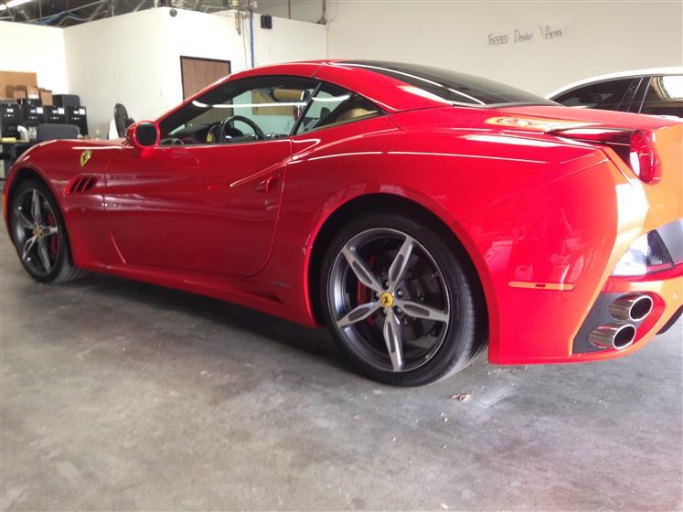 Paint Corrected And Polished Ferrari California