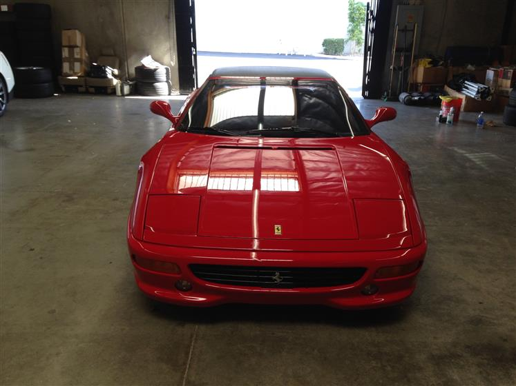 Ceramic Coating on Red Ferrari F355