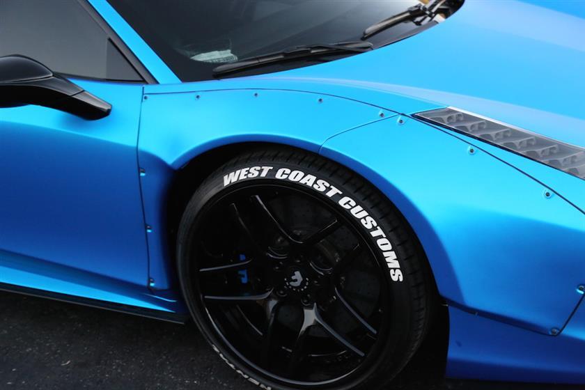 Blue Ferrari 458