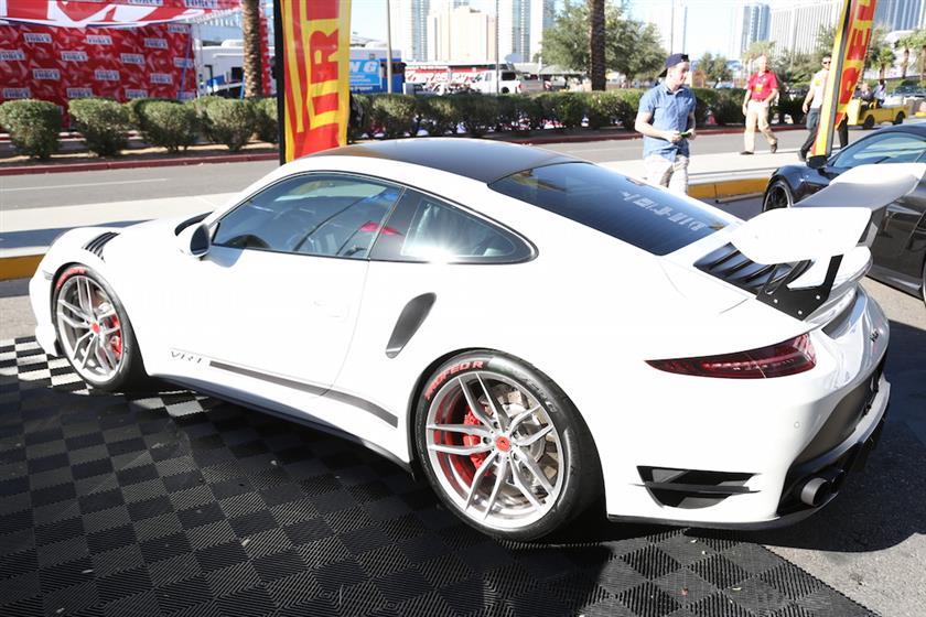 White Porsche 911 Turbo 991