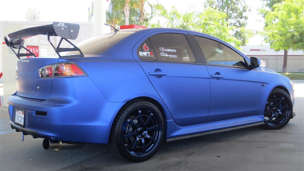 Oracsky Blue Mitsubishi Lancer Evo