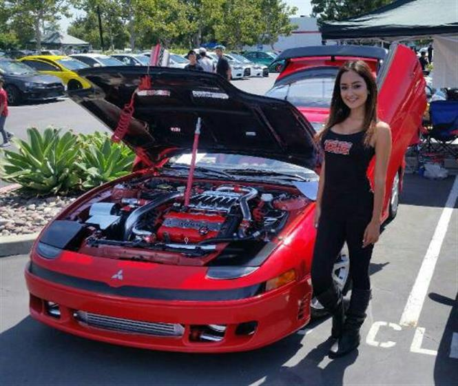red/black 3000gt twin turbo air ride