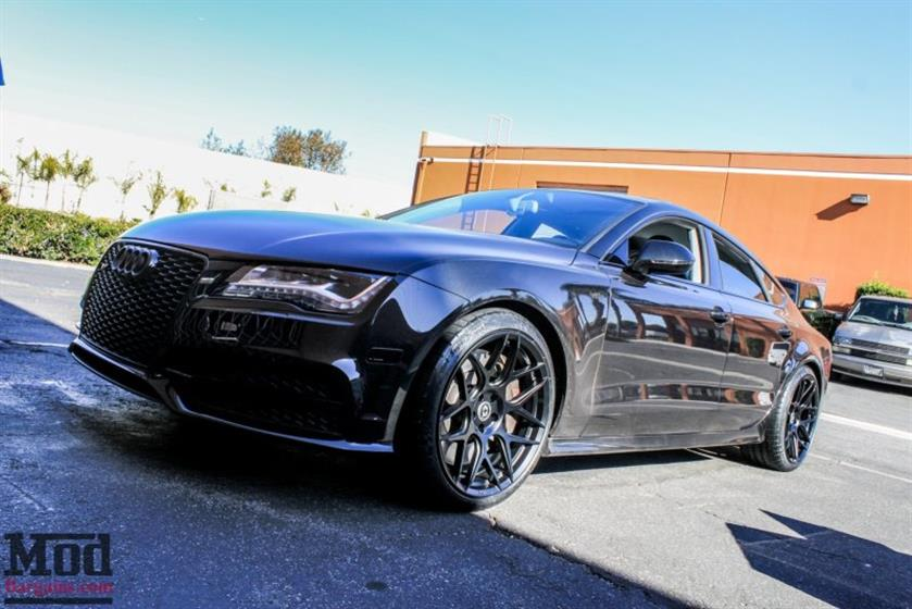 C7 AUDI S7 GETS AWE EXHAUST+HRE FF01 WHEELS