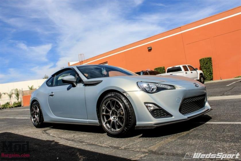 SCION FR-S ON WEDSPORT TC105N WHEELS + TRD GOODIES