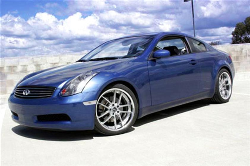 Chad's 2005 Athens Blue G35 Twin Turbo Coupe,Infiniti
