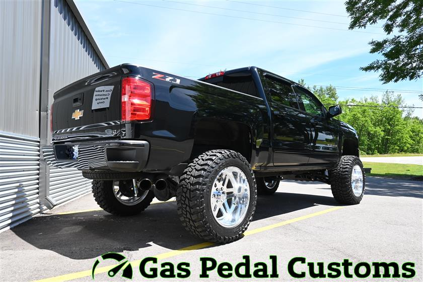Lifted Chevy Silverado with American Force Wheels