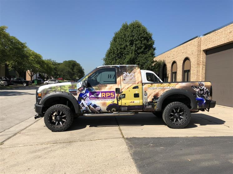 Truck wrap installation