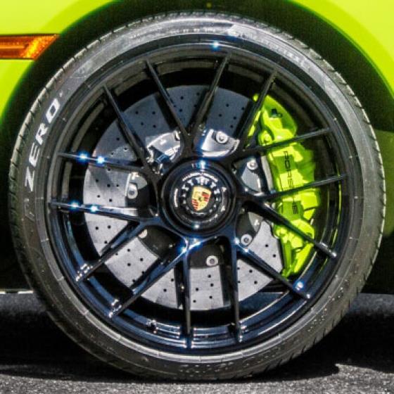 2017 Porsche 911 with Powder Coated Wheels