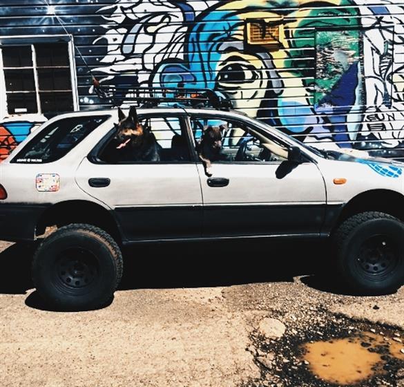 1993 Subaru Impreza with a 10