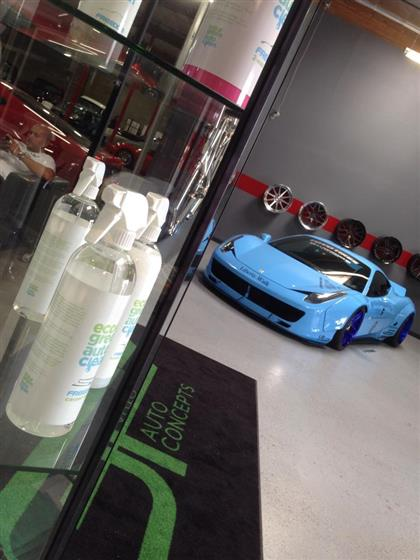 Blue Ferrari 458 with Riveted Widebody Kit