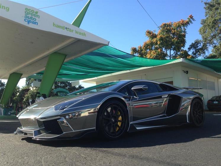 Lamborghini Aventador with Vinyl Wrap