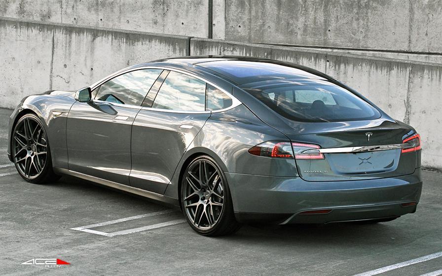 Tesla Model S With Ace Mesh  Wheels